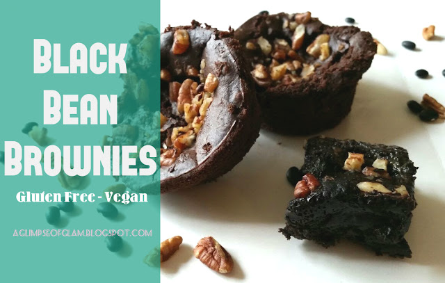 Gluten Free Vegan Black Bean Brownies - A Glimpse of Glam