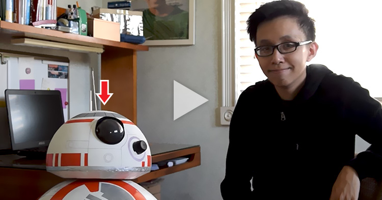 Filipino student created a functioning BB-8 Droid of Star Wars using household items