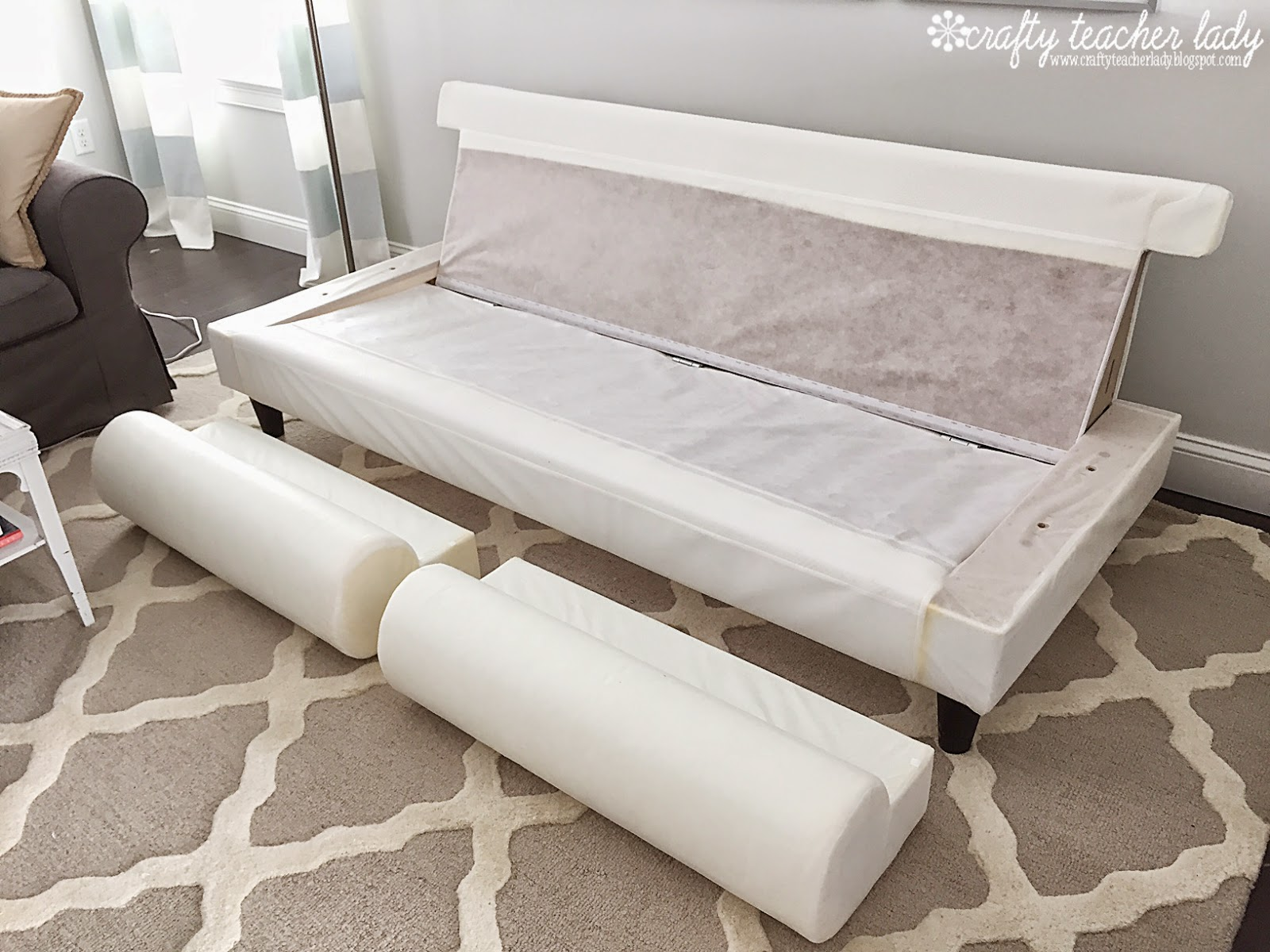 White Denim Sofa Covers Replacement Bed Frame For Sleeper Crafty Teacher Lady: Review Of The Ikea Ektorp Series