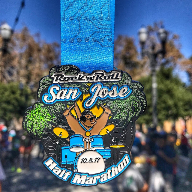 Rock'n'Roll San Jose Half marathon medal 2017