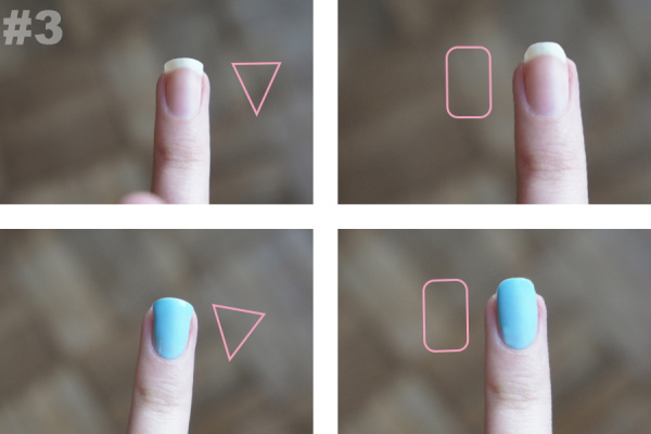 Here We Have Two Basic Shapes On The Left Dreaded Triangle Shape Notice Way It Makes Tops Of Her Fingers Seem Wider And Shorter