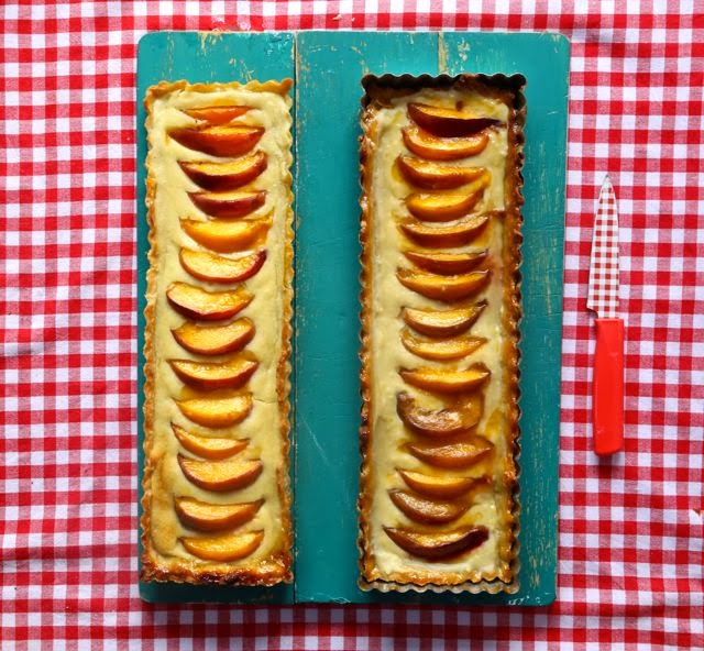 yellow nectarine tart