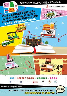 Festival OF4 street food fidenza parma maggio 2016