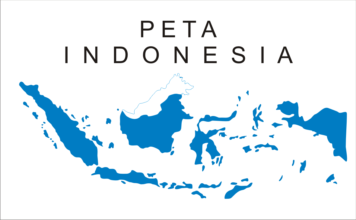Peta Indonesia buta tanpa provinsi