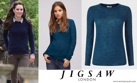 Kate Middleton wore Jigsaw Cashmere Cloud Katharine Jumper