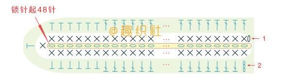 Схема вязания листика гиацинта