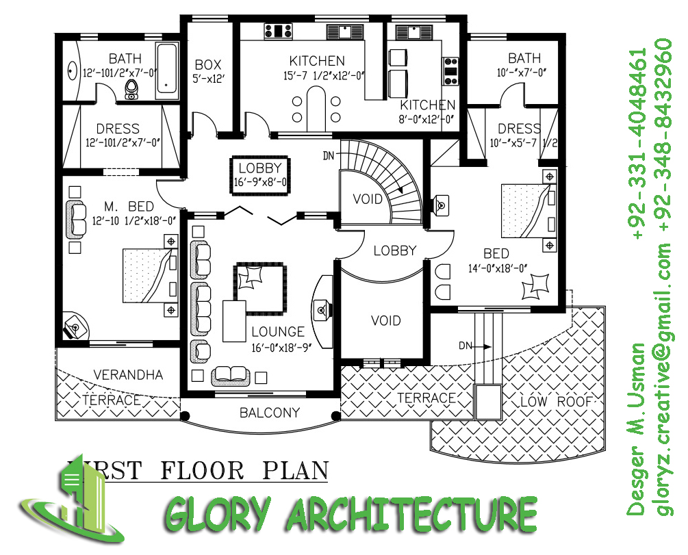 60x75 house plan 60x75 house elevation 60x75 pakistan for Home naksha by architecture