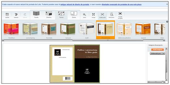 Creando la portada de un libro con el diseñador de Lulu