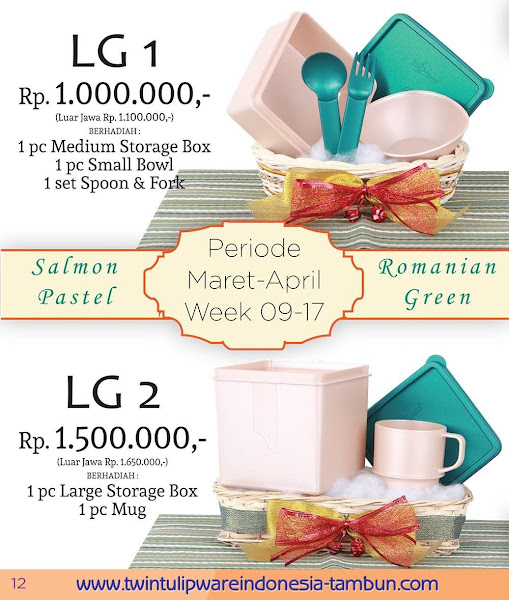 Level Gift 1 & 2 Twin Tulipware Maret 2016