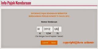 Cara Cek Pajak Kendaraan Bermotor Provinsi Jawa Tengah Secara Online ( Via Laptop dan HP)