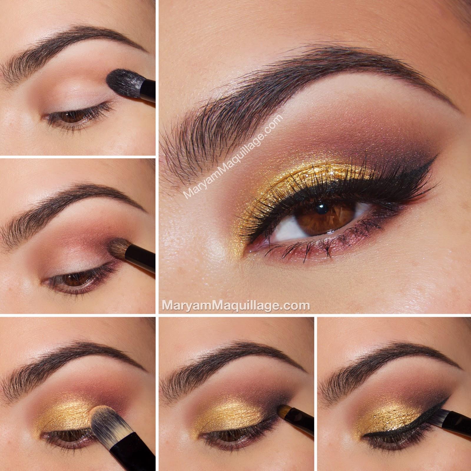 makeup tutorial smokey eyes gold makeup vidalondon. Black Bedroom Furniture Sets. Home Design Ideas