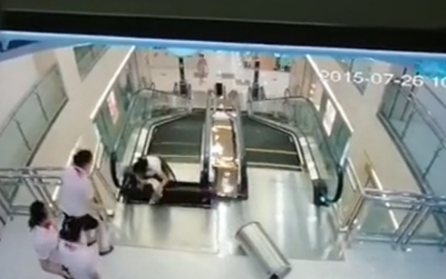 chinese mother killed escalator