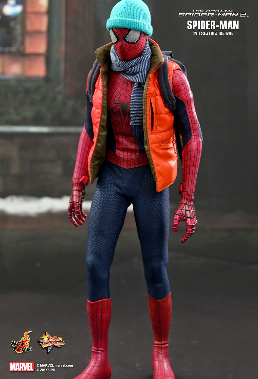 hot toys 39 1 6 spider man collectible figure from the. Black Bedroom Furniture Sets. Home Design Ideas