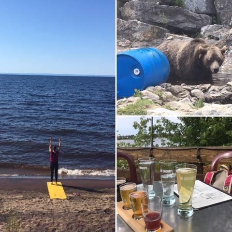 Vacances Lac-St-Jean zoo St-Félicien bières yoga plage