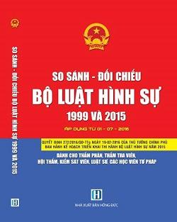 Sách so sánh - đối chiếu bộ luật hình sự 1999 và 2015