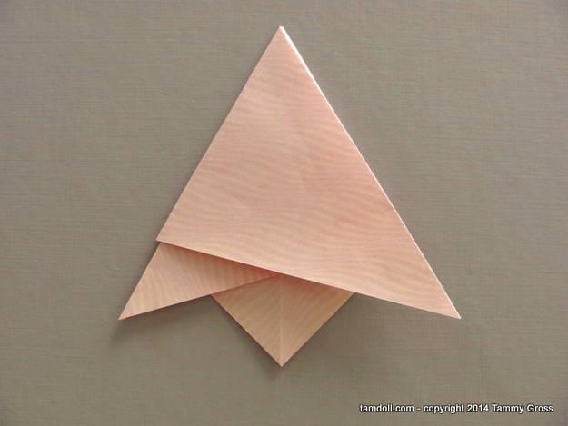 edges folded inward