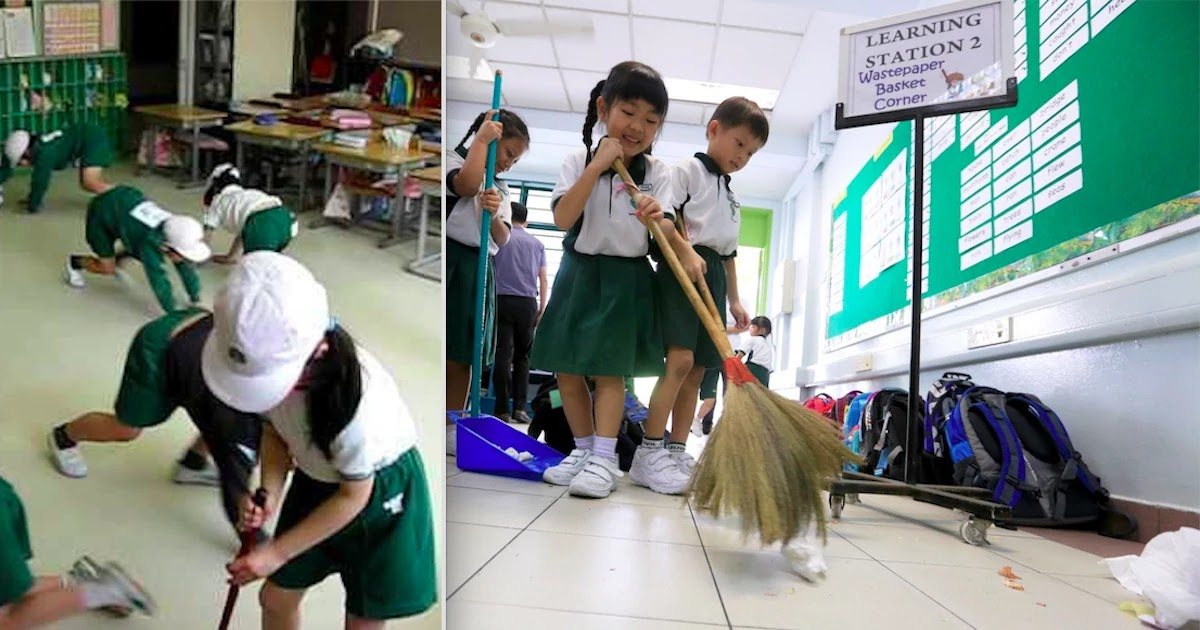 This Is How Japanese Children Clean Their Schools