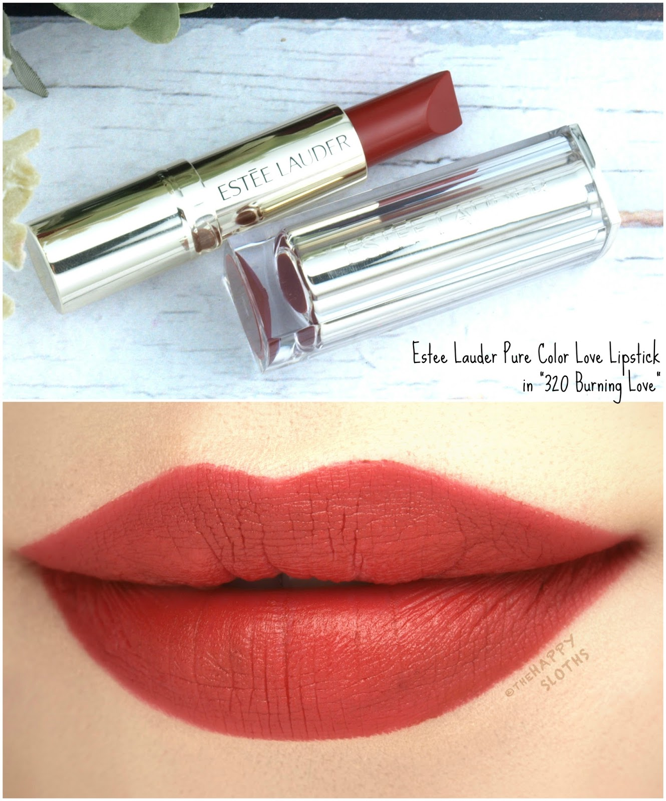 "Estee Lauder Pure Color Love Lipstick in ""320 Burning Love"": Review and Swatches"