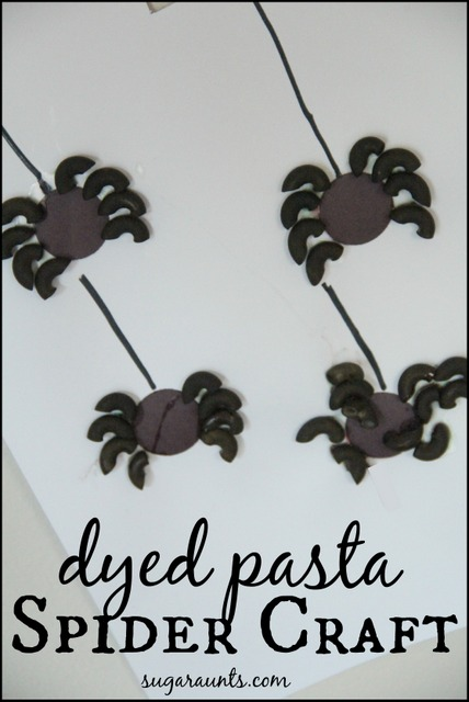 Halloween Pasta Spider Craft