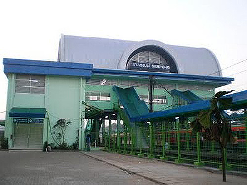 Peta Commuter Line perjalanan Stasiun Serpong