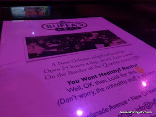 Buffa's menu