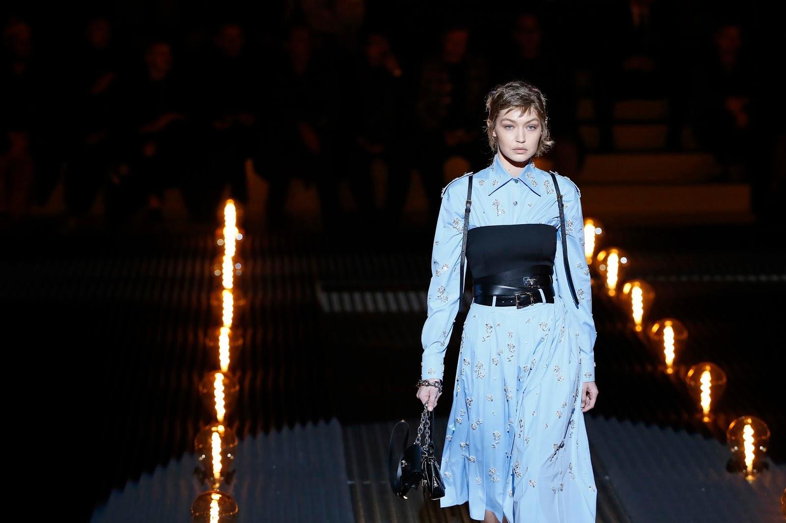 Gigi Hadid - walks the runway at the Prada show - 01/13/2019