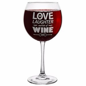 "Wine glass with a ""deep"" message - Pass!"