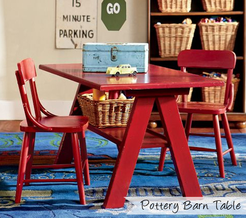 Strawberry Chic Pottery Barn Kids Table Diy