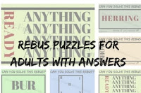 Rebus Puzzles for Adults with Answers