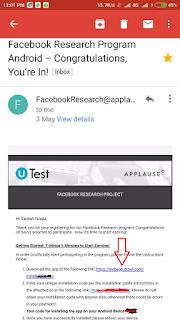 facebook research app download link