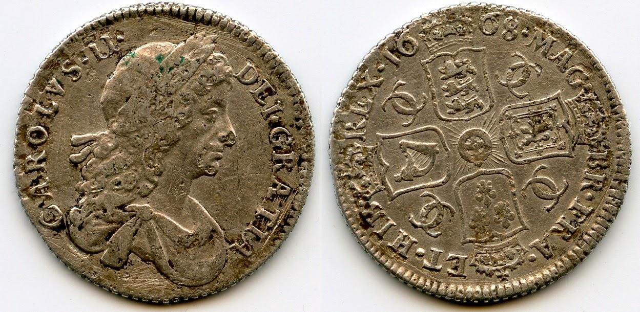 Charles II shilling 1668