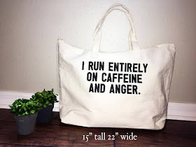 Caffeine and Anger Tote on Etsy