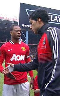 Luis Suarez and Patrice Evra feud