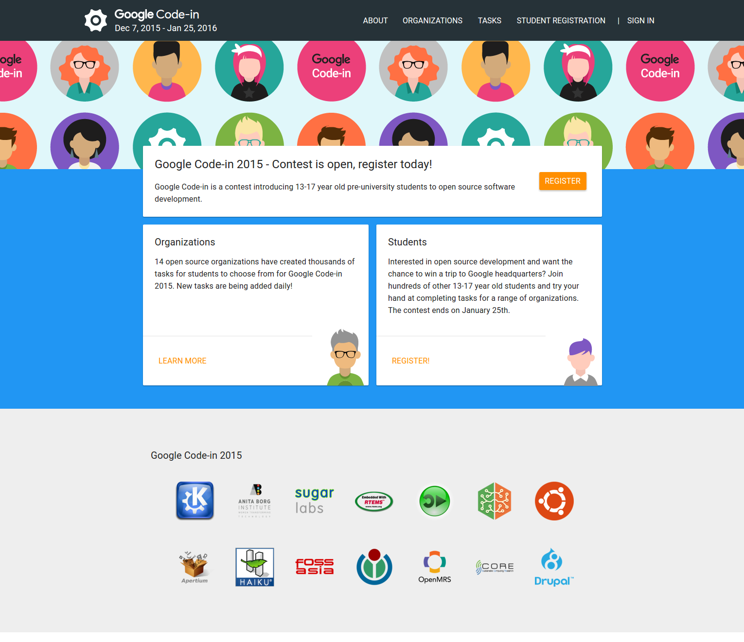 Google Code: Google For Education: Google Code-in: May The Source Be