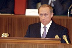 Vladimir Putin. Acting President of Russian Federation.