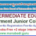 2 Year Intermediate Education totally Free in all Telangana Government Junior Colleges