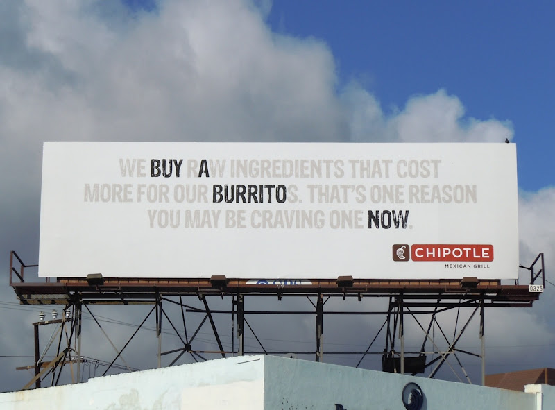 Chipotle Buy a Burrito billboard