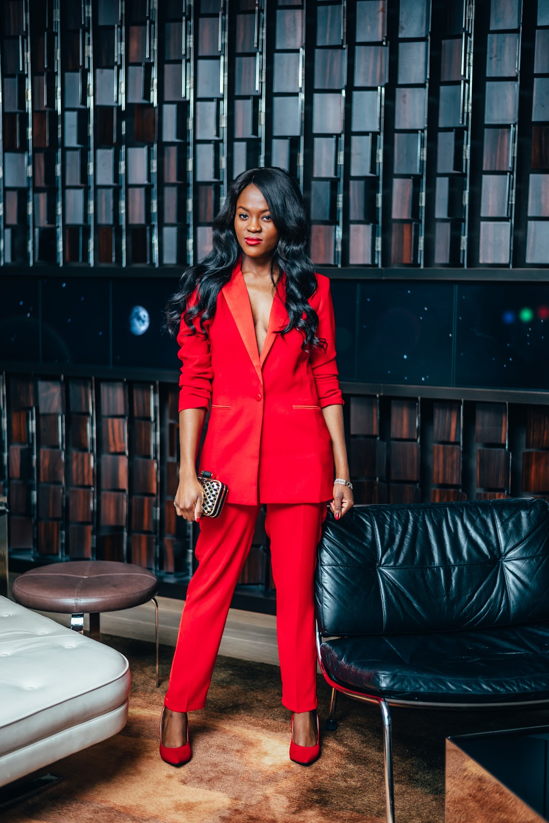 Red Suit for the Holidays, Cranberry Tantrums, Chicago Fashion Blog