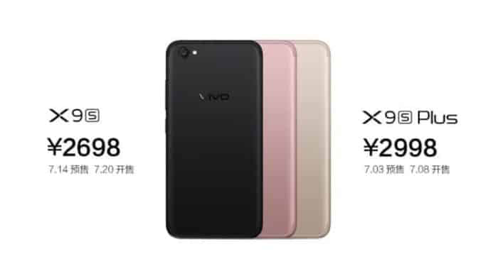 Vivo Launch New Smartphones In Pakistan  X9s and X9s Plus with Dual Selfie Cameras