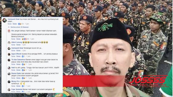 Nitizen Minta Abu Janda dan Banser Selamatkan 1300 Masyarakat Papua Yang Disandra OPM dan Bubarkan OPM, Setuju?