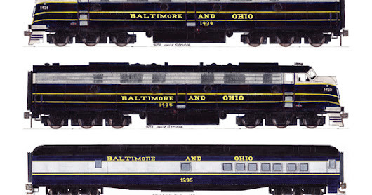 The Baltimore and Ohio Capitol Limited at Cumberland, Maryland