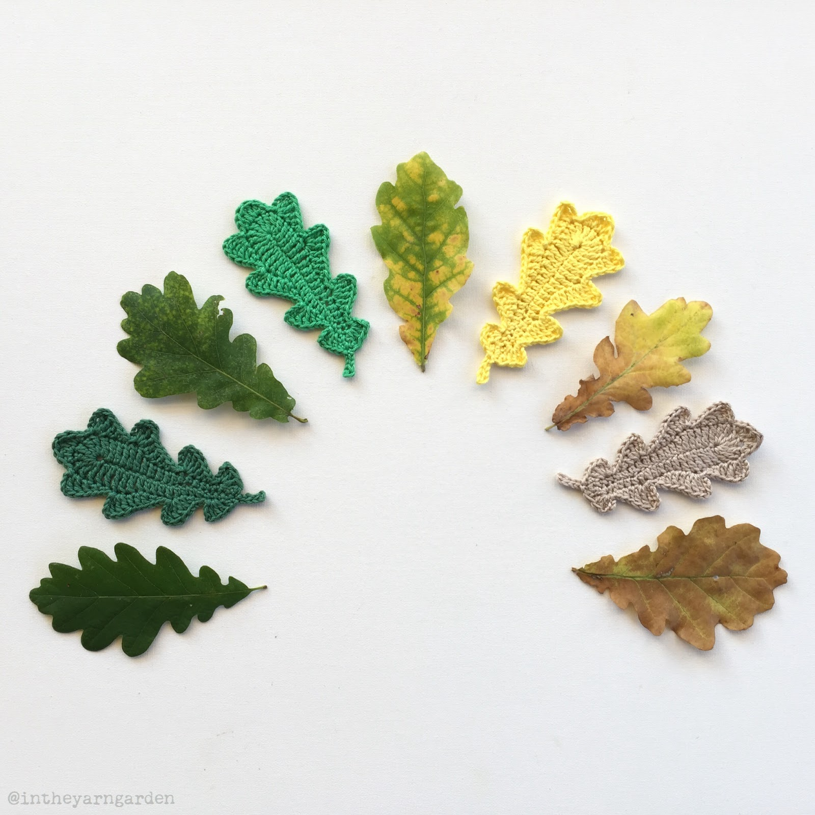 Crocheting Leaves : In the Yarn Garden: Crochet oak leaves