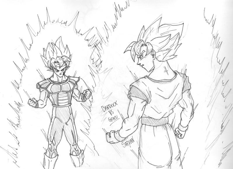 Black Goku Para Colorear: Bardock Y Goku Super Sayayin Para Colorear