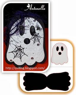 Antonella's Ghost Shaped Card Free Cut File - quilling.blogspot.com