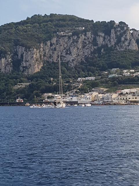 A VIEW OVER AN ISLAND OF CAPRI FROM AFAR