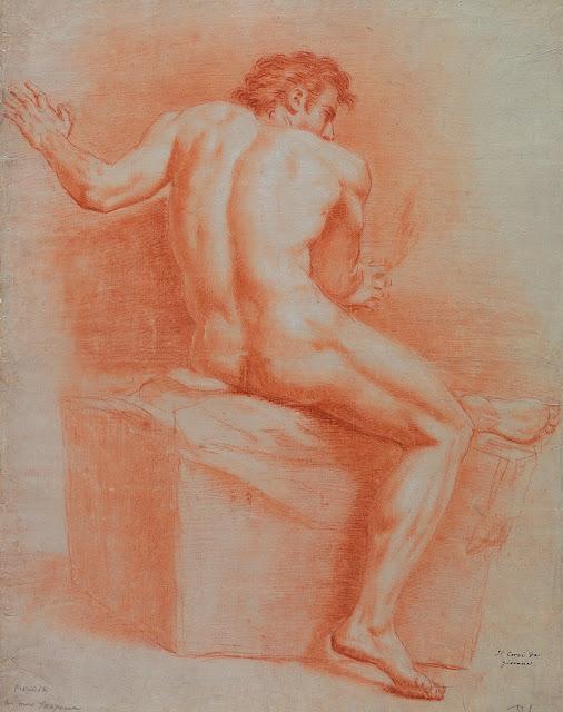 Domenico Corvi: Uomo seduto, visto da dietro