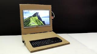 laptop murah buatan sendiri dari rasberry pi