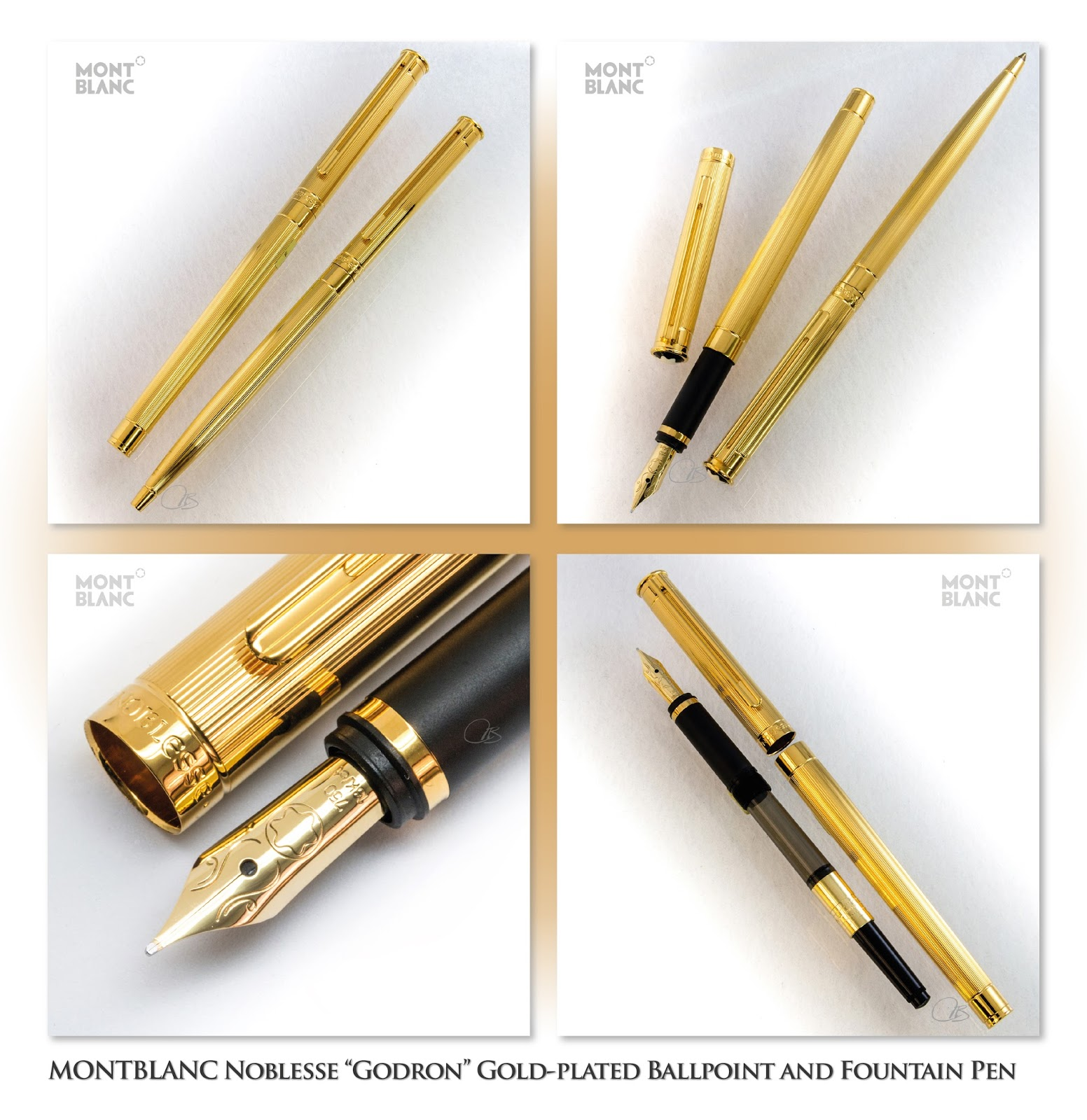 Mont Blanc Noblesse Fountain Pen from the 1970s