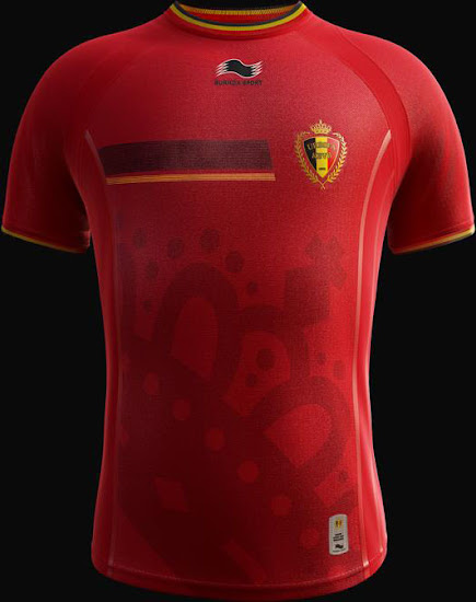 the latest b0c08 95e09 Burrda Belgium 2014 World Cup Home, Away and Third Kits ...