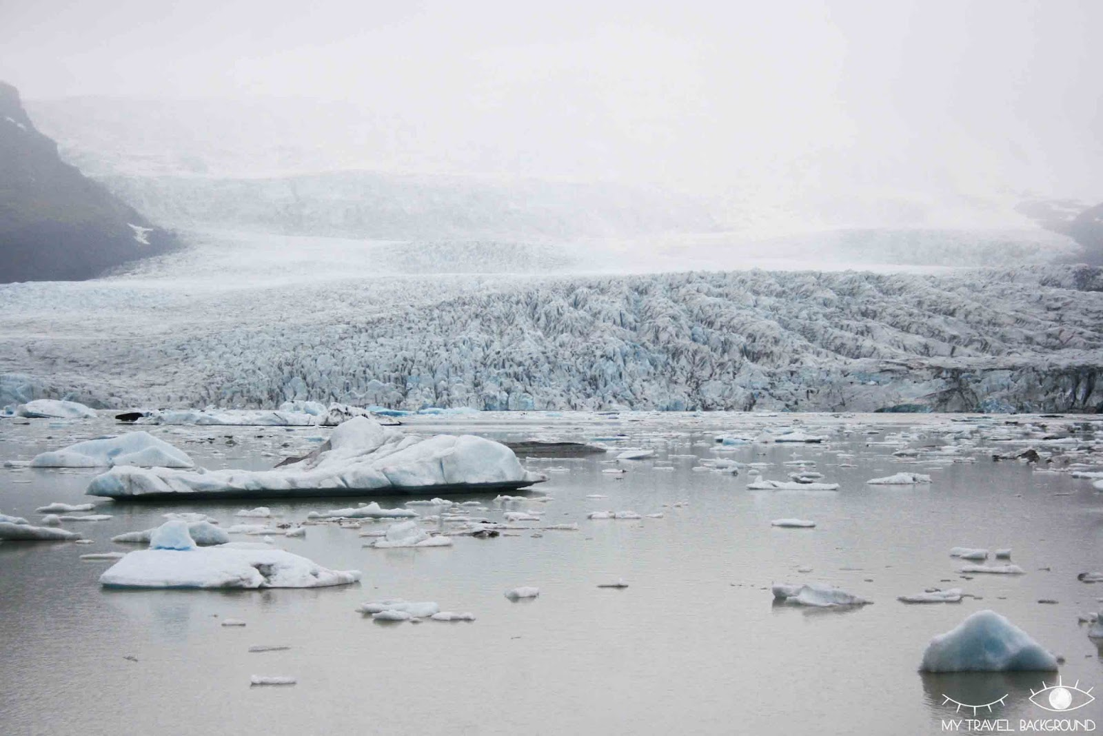 My Travel Background : Glaciers et icebergs dans le Sud de l'Islande - Croisière en bateau pneumatique sur le Fjallsjökull
